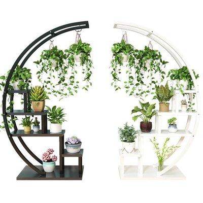 新款客廳家用花架子多層室內特價省空間陽臺裝飾置物架鐵藝花盆架