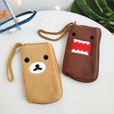 【Q包小屋】日本 Domo君 多摩君 拉拉熊 有吊牌 拉鍊 零錢包 收納袋 化妝包 耳機袋