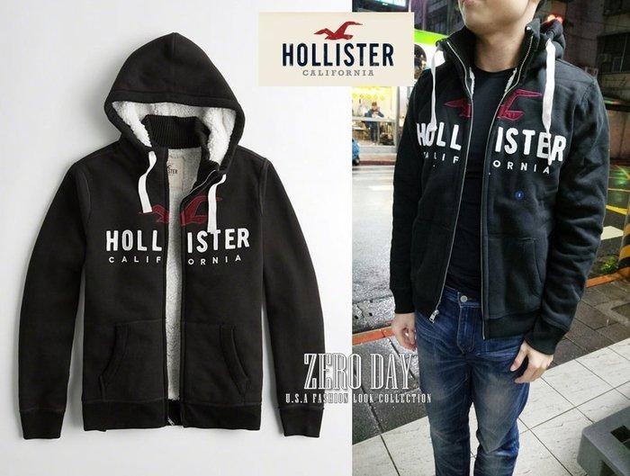 零時差美國時尚網A&F副牌HCO真品Hollister Sherpa-Lined Logo Hoodie熊寶寶毛連帽外套