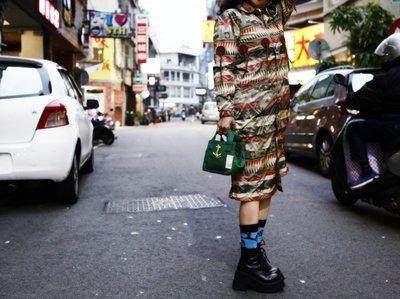 Kapital RainCoat  防水 春夏 印地安圖騰 牛皮 流蘇 印刷 洋裝 XS號 現貨