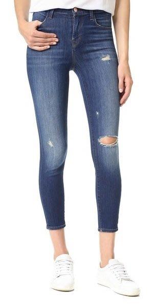 ◎美國代買◎J Brand Alana High Rise Crop單膝刷破高腰七分合身牛仔褲