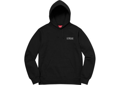 【紐約范特西】預購 Supreme Decline Hooded Sweatshirt 黑色帽T