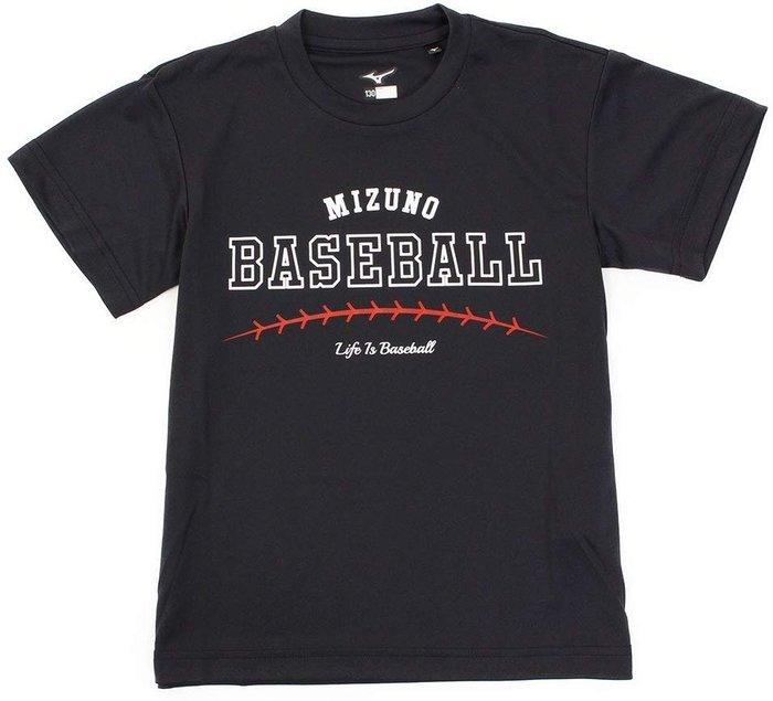 貳拾肆棒球--日本帶回Mizuno  life is baseball 短袖練習衣/M5170cm