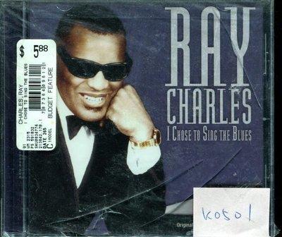 *真音樂* RAY CHARLES / I CHOSE TO SING THE BLUES 全新 K0501  (清倉.下標賣3