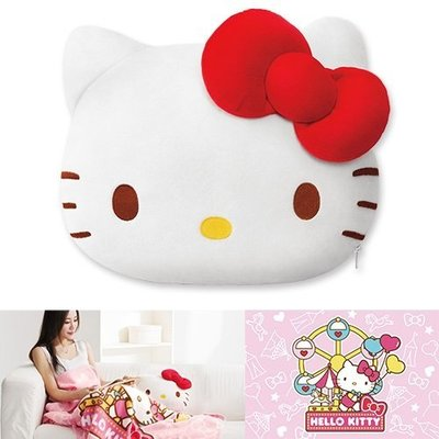 Hello Kitty抱枕披毯2件組   購買價:358 元