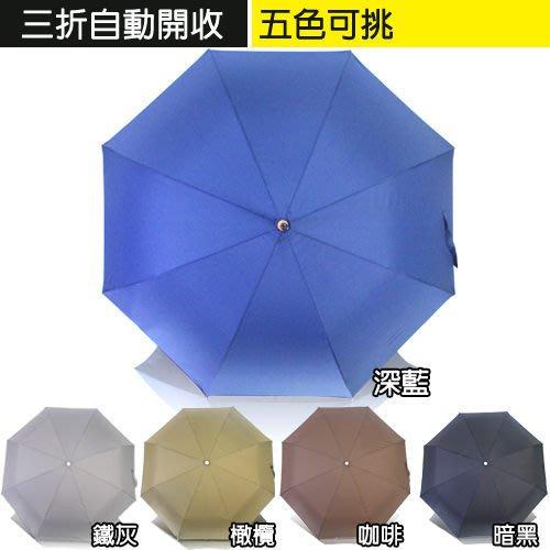 LED燈三折自動開收傘~5色可挑