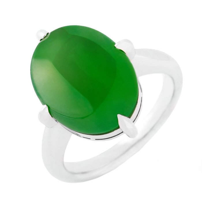 【JHT金宏總珠寶/GIA鑽石專賣】8.25克拉天然翡翠戒指/材質:PT900(JB53-B05)_附證