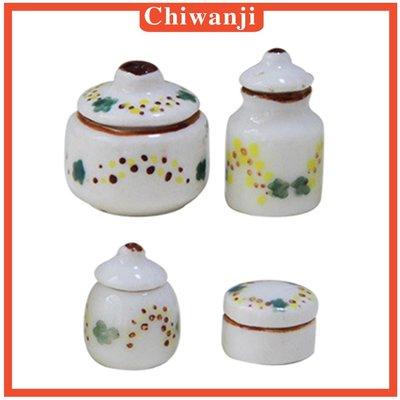 1/12 Scale Dolls House Miniature Ceramic Pots