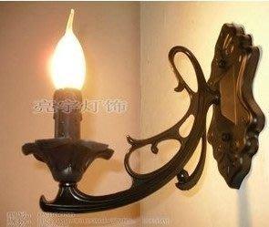 廠家直銷/歐式鋅合金壓鑄/單頭壁燈/蠟燭燈/過道/樓梯間特價