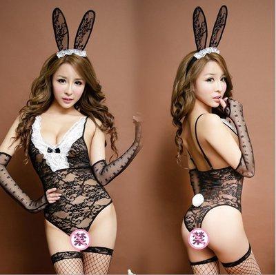 情趣內衣 情趣內褲 制服情趣內衣女兔女裝性感兔女郎兔子服開檔透明制服極度誘惑騷角色