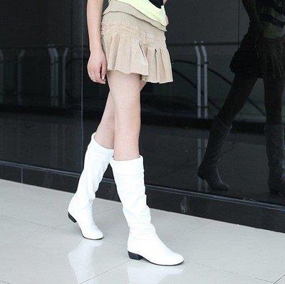 YEAHSHOP 膝上靴 百搭學生女靴單靴天的白色高筒靴長靴子大碼34408Y185