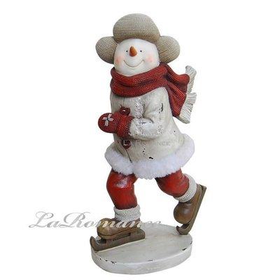 【芮洛蔓 La Romance】德國 Heidi 童趣家飾 - 聖誕童話白衣滑冰雪人 (大) / 交換禮物