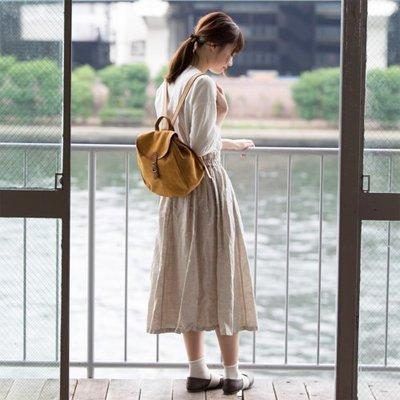 預購 日本人氣品牌 Kanmi 防潑水 牛革 麂皮 可愛小巧 後背包  日本製