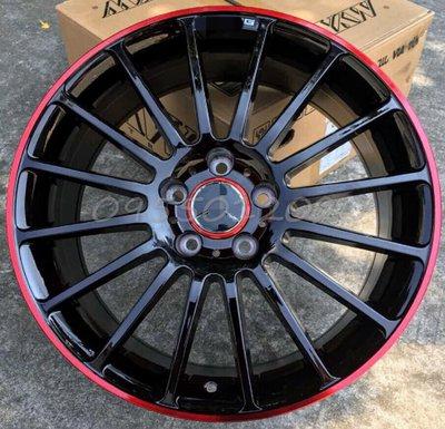 全新類BENZ A45 AMG限量紅圈仕樣5孔112 18吋鋁圈W204.W205.W212.W213.W176.CLA