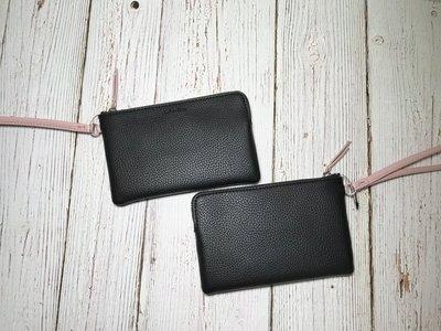 美國正品 Calvin Klein CK 單層手拿包 黑色粉提帶*現貨*