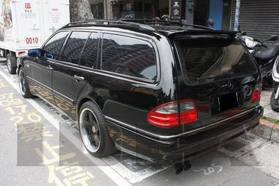 泰山美研社E159 BENZ W210 WAGON 旅行車A款側裙 另可國外訂購