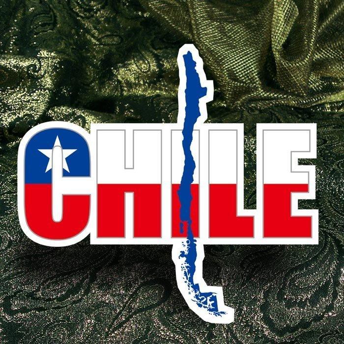 【國旗貼紙專賣店】智利國旗地圖抗UV、防水行李箱貼紙/Chile/多國款可訂製