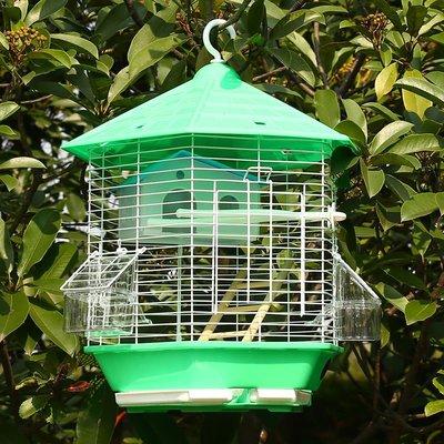 鳥籠六角鳥籠寵物鸚鵡遮陽籠子
