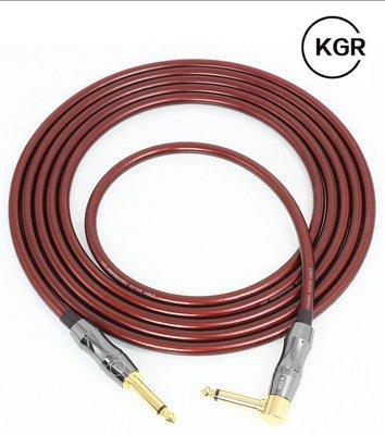 《小山烏克麗麗》KGR 樂器導線 3公尺 10尺 吉他 鍵盤 貝斯 烏克麗麗 導線 直彎頭 棕