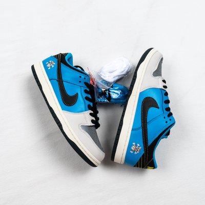 Nike Dunk SB Low x Instant Skateboard 藍白黑 休閒運動板鞋 CZ5128-400