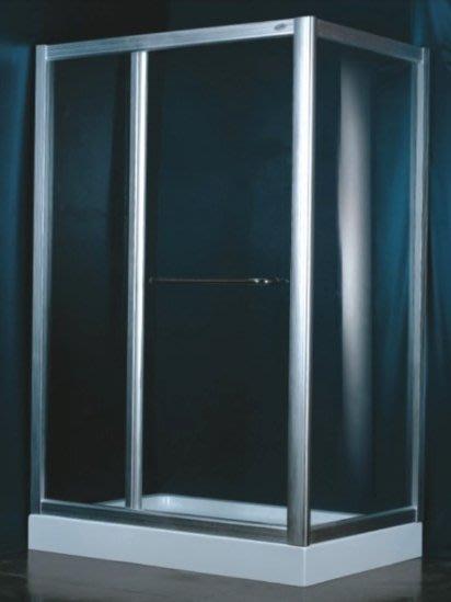 FUO衛浴: 100X80公分強化玻璃乾濕分離淋浴間,熱賣款!