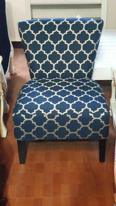 古典簡約單人椅主人椅 沙發休閒椅 布沙發