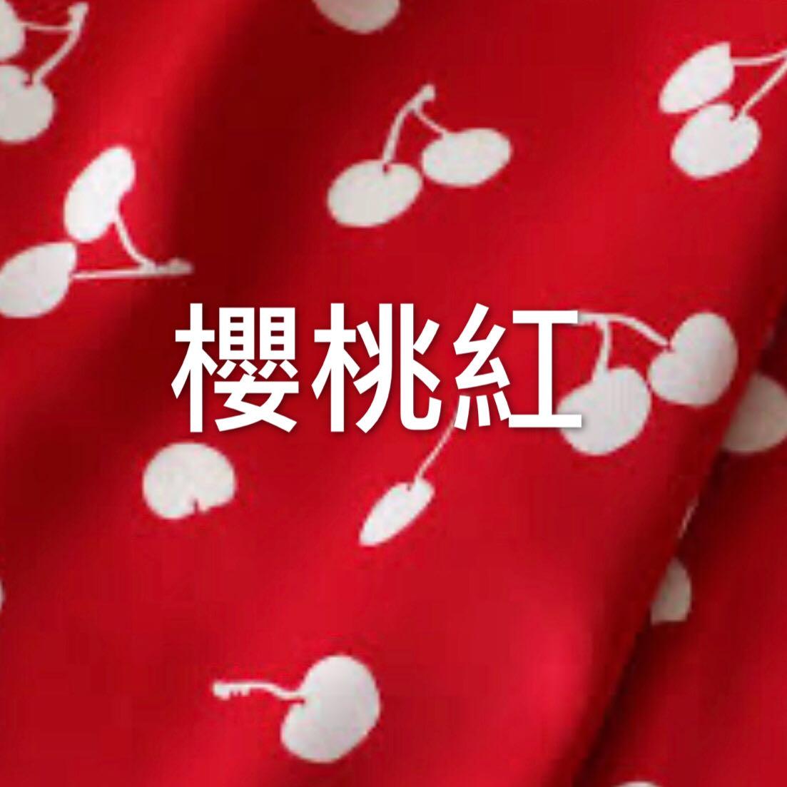 櫻桃紅盒裝全新封膜//現貨中衛生注意⚠️//口罩收納套//布料色卡