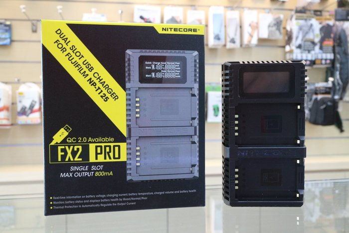 【日產旗艦】Nitecore FUJI FX2 NP-T125 USB 充電器 雙充 座充 GFX50S GFX50R