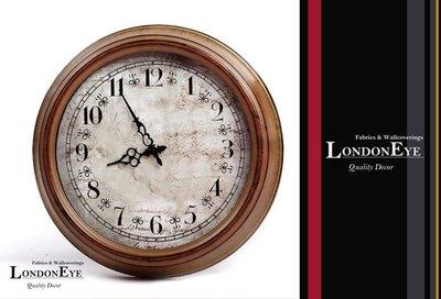 【 LondonEYE 】PEZEBURG經典鄉村風‧仿古作舊鐵藝掛鐘‧溫潤質感美式原木‧設計師嚴選