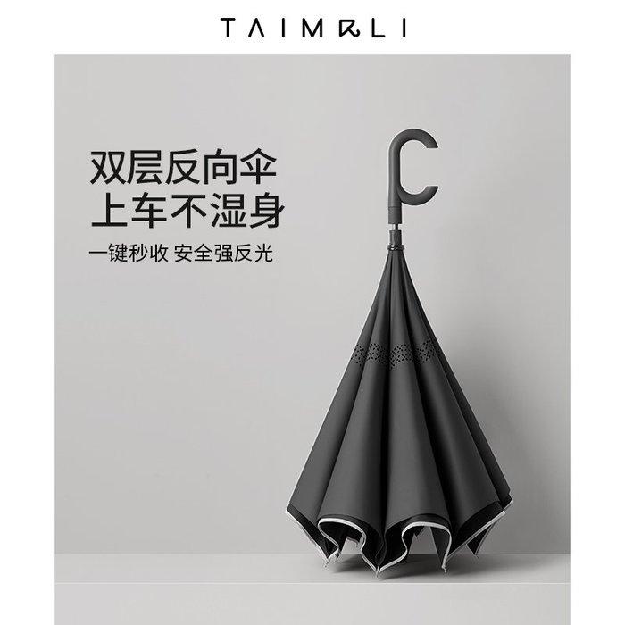 @精品良鋪 新款 創意汽車載車用男抗風自動雨傘大號超大雙層反向傘女晴雨傘兩用長柄傘