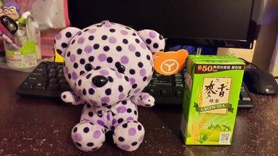 (13)豹紋紫色小熊娃娃 7-11 全家