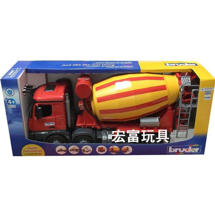 台中 **宏富玩具**德國工程車 BRUDER 1:16 賓士水泥車 3654