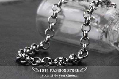 鈦鋼 / 不鏽鋼 加厚 環節 不鏽鋼鍊 項鍊 鈦鋼項鍊 / 配鍊 全長 約 55cm 不退色 BH062901