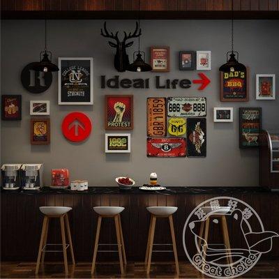 【灰熊好物】照片牆 相片牆 相框牆 酒吧餐廳旅館店鋪壁飾 結婚居家裝潢掛畫掛飾 美式復古工業風 #2364