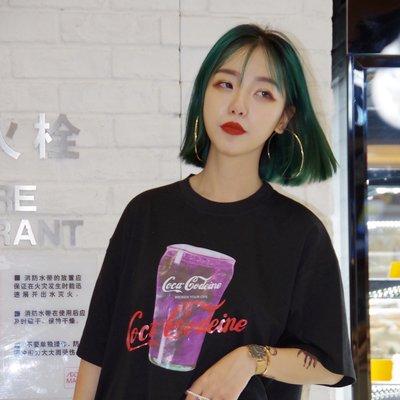 2018夏季韓版ulzzang原宿字母印花寬松百搭顯瘦圓領潮 短袖T恤女
