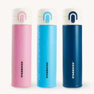 日本星巴克starbucks六月新品夏日新色(粉紅/淺藍/海軍藍)保溫瓶