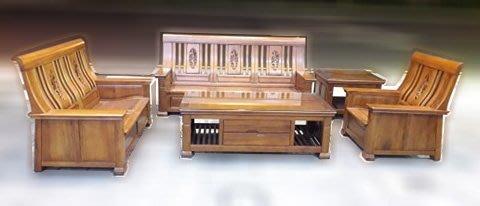 樂居二手家具 便宜2手傢俱拍賣 A0328CJJC 樟木沙發組 實木木板椅/茶几 泡茶桌椅滿千送百豐悅新竹台北台中