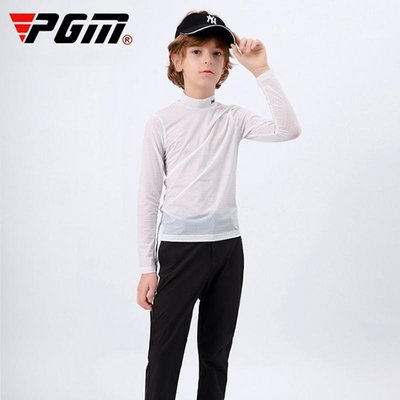618購物節~ 高爾夫兒童防曬衣男童防曬衫2021時尚新款韓版潮青少年時尚打底衣 現貨台灣