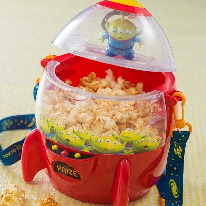 Miss莎卡娜代購【東京海洋迪士尼】﹝現貨+預購﹞玩具總動員 三眼怪 火箭造型爆米花桶 雜物收納桶 (內不含爆米花)