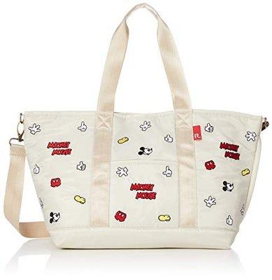 日本 Rootote X Disney Mickey Mouse 米奇 米白色帆布 斜咩袋 ( $280 包順豐 )