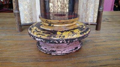 ॐ〘聖多羅〙印度小葉紫檀 千百年古廟 拆除柱頭 - 3