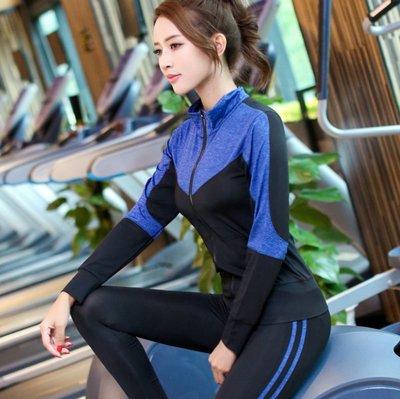 ☆Super Star☆韓貨 100%實品 瑜伽服 日韓潮流套裝吸汗速幹顯瘦外套運動跑步健身兩件套裝93S626