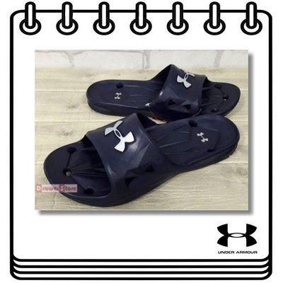 【Drawer】UNDER ARMOUR LOCKER III SLIDE 運動拖鞋 拖鞋 防水 止滑 藍色 UA拖鞋