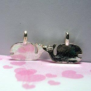 琥珀貓~【925純銀材料配件】墜飾~A0251~鯨魚~一個