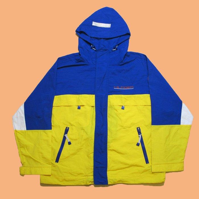 JCI:Vintage Tommy Hilfiger 經典款藍黃機能風衣外套 90s / 古著 / Polo Sport