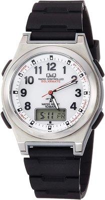 日本正版 CITIZEN 星辰 Q&Q MD12-304 男錶 手錶 電波錶 太陽能充電 日本代購