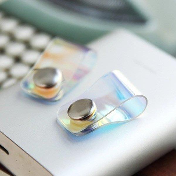 《Jami Honey》【JD1511】科技炫光扣式MP3耳機捲線器 集線器 繞線器