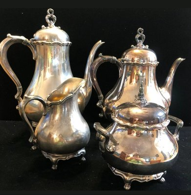433高檔英國鍍銀壺組 Vintage Silverplate Ornate teapots (皇家貴族精品)