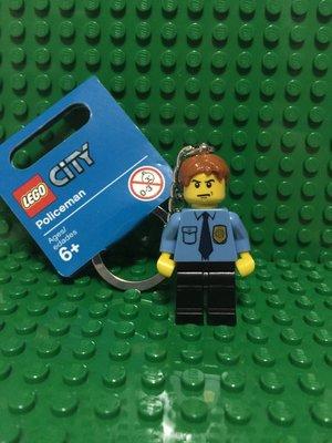 【樂購玩具雜貨鋪】LEGO 樂高 City 城市系列 853091 Policeman Keychain 警察鑰匙圈