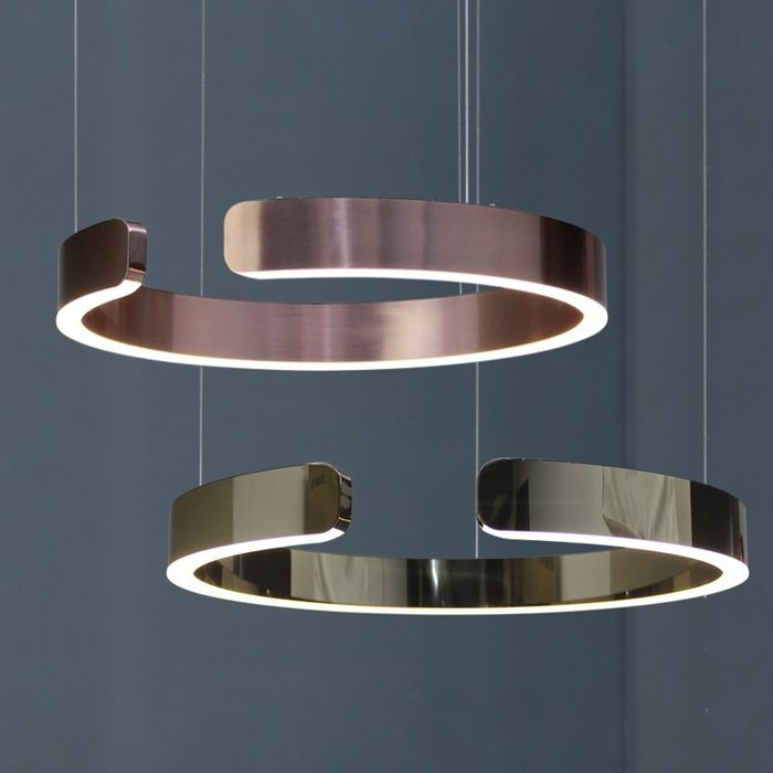 【58街】「不銹鋼戒子吊燈」極致典雅品味/燈具/美術燈。複刻版。GH-570